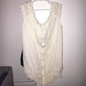 SILK OFF THE SHOULDER CREAM BLOUSE